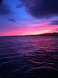 Sunset purples in Newport harbor